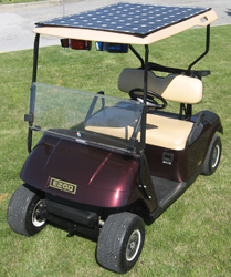 solar panel on golf cart